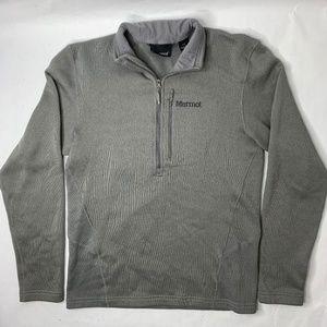 Marmot Mens Medium Sweater 1/2 Zip Gray